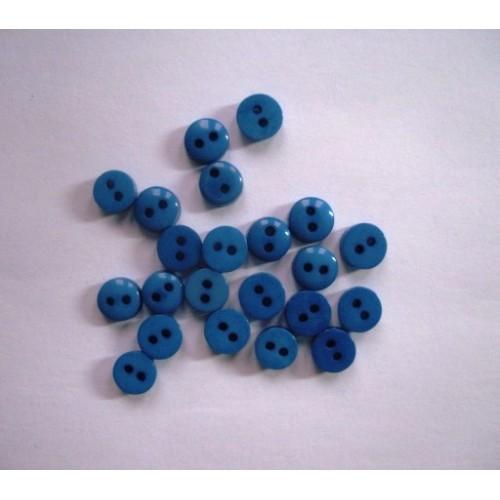 Пуговицы мини-6мм,цвет синий. Цена за 1 шт