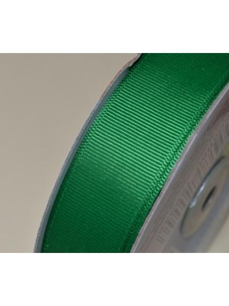 Лента репсовая,25мм.№077-зелёная