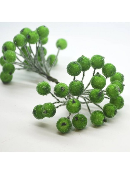 Ягодки зимние, оливково-зеленый, цена за 20шт