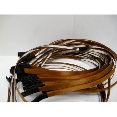 Заготовка-ободок для волос с коричневой лентой  ,5мм