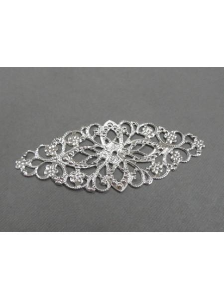 Декоративный элемент,филигрань,цв-античное серебро,.цена за 1 шт