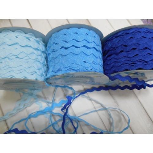 """Лента декоративная """"зиг-заг""""-светло-голубой,5мм-цена за 1 метр"""