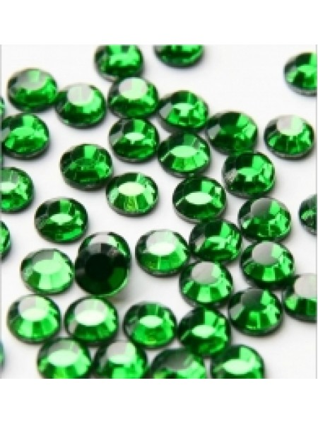 Стразы термоклеевые DMC-SS-16-тёмно-зелёные,№9,цена за 10 шт