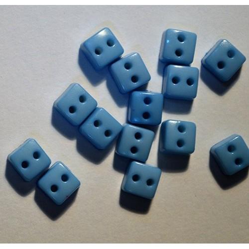 Пуговицы мини-квадрат-6мм,цвет глубой. Цена за 1 шт