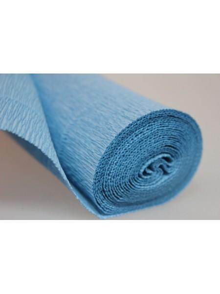 Бумага гофрированная-CARTOTECNICA ROSSI, цв голубой  №556