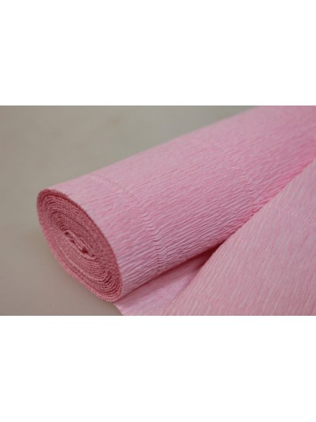 Бумага гофрированная-CARTOTECNICA ROSSI, цв розовый №549