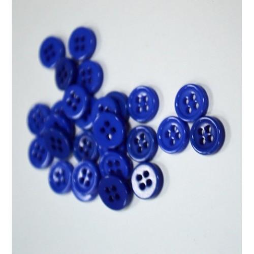 Пуговица акриловая, на 4 прокола,Цв-синий,цена за 1 шт