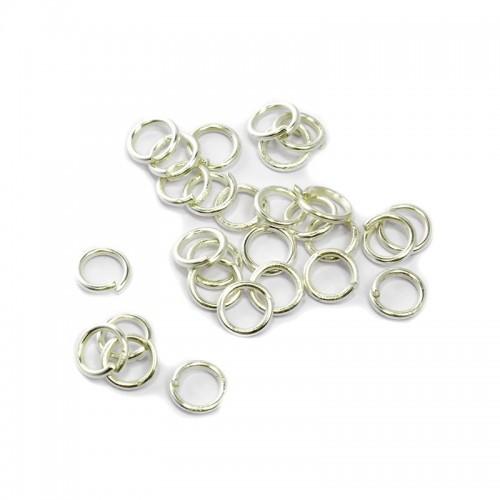 Колечки соединительные,цв-серебро,5 мм,цена за 10 шт