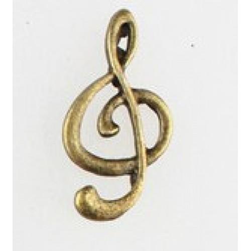 Подвеска-Музыкальный ключ,11*23мм. цена за 1 шт