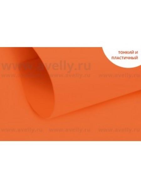 Фоамиран корейский,апельсиновый,0,6мм,20*30 см, цена за 1 лист