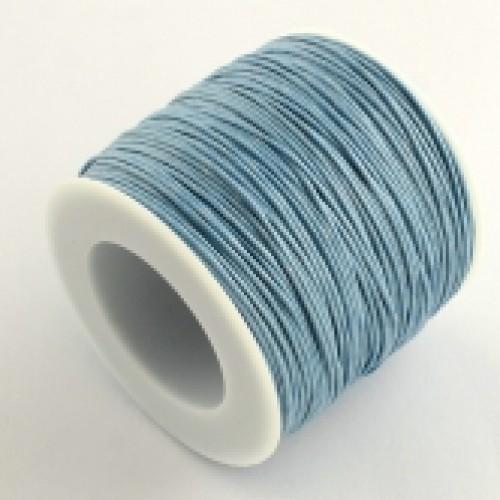 Вощеный шнур,1 мм.серо-голубой,цена за 1 метр
