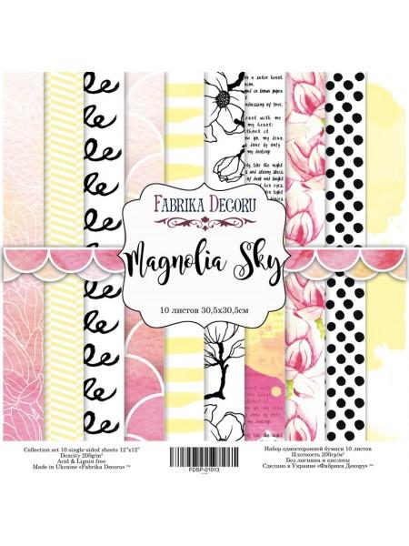"Набор скрапбумаги ""Magnolia Sky"" 20 Х20 см,Фабрика Декора"