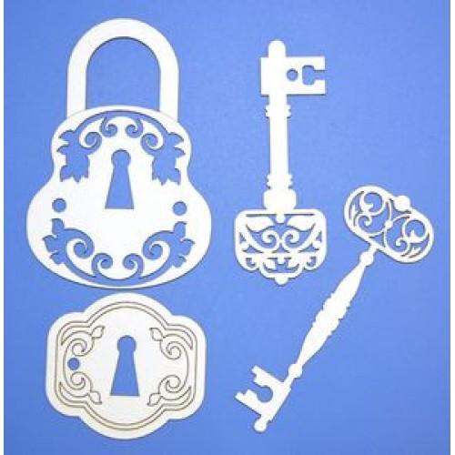 "Чипборд № -Б-3-""Ключи с замком"""