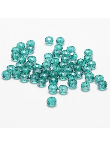 Бусина-стекло гранёное 6*4мм,цв-№3, цена за 1 шт