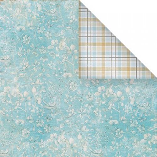 Бумага для скрапбукинга двухсторонняя-цветочная, 30,5* 30,5 см, 1510-2