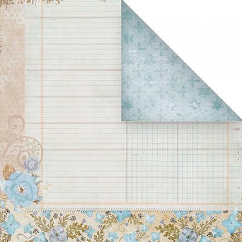 Бумага для скрапбукинга двухсторонняя-цветочная, 30,5* 30,5 см, 1510-8