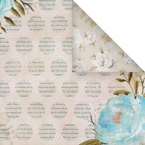 Бумага для скрапбукинга двухсторонняя-цветочная, 30,5* 30,5 см, 1510-6