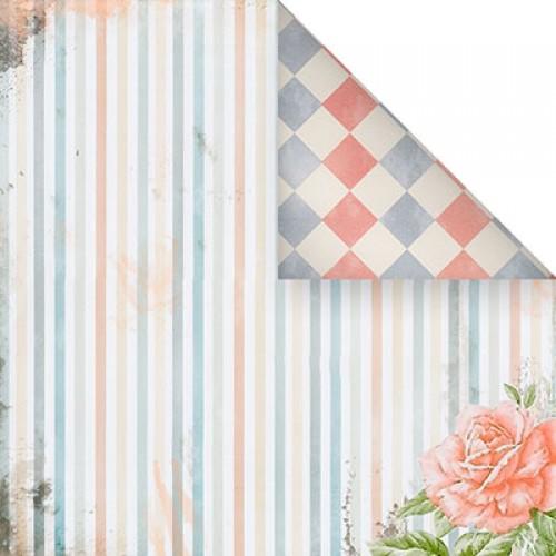Бумага для скрапбукинга двухсторонняя-Нежный стиль, 30,5* 30,5 см, 1513-1