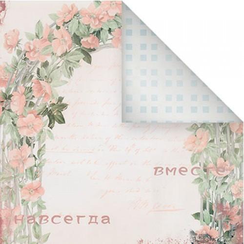 Бумага для скрапбукинга двухсторонняя-Нежный стиль, 30,5* 30,5 см, 1513-8