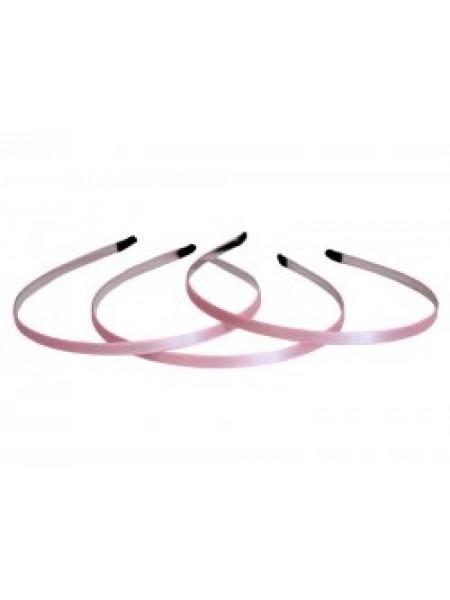 Заготовка-ободок для волос с розовой лентой  ,5мм