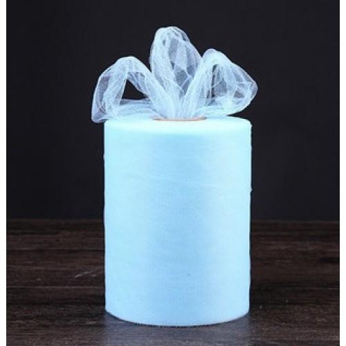 Лента фатиновая, 15 см цв-№-7-голубой,цена за 1 метр