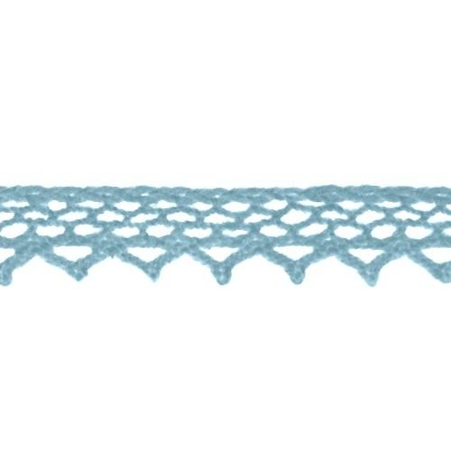 Кружево вязанное, хлопок,0,8см.цв серо-голубой,002-41.цена за 1 м
