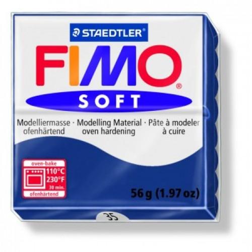 Полимерная глина Фимо FIMO Софт тёмно-синий-35