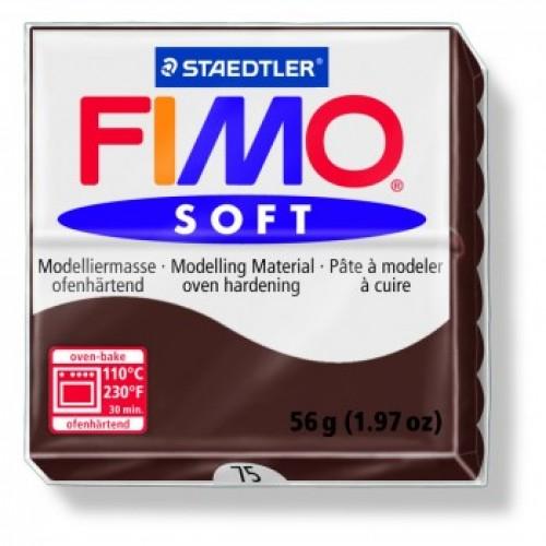 Полимерная глина Фимо FIMO Софт шоколад-75