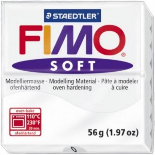 Полимерная глина Фимо FIMO Софт белый 00