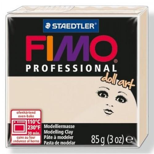 Полимерная глина FIMO professional doll art 85гр(Германия)-полупрозрачный бежевый