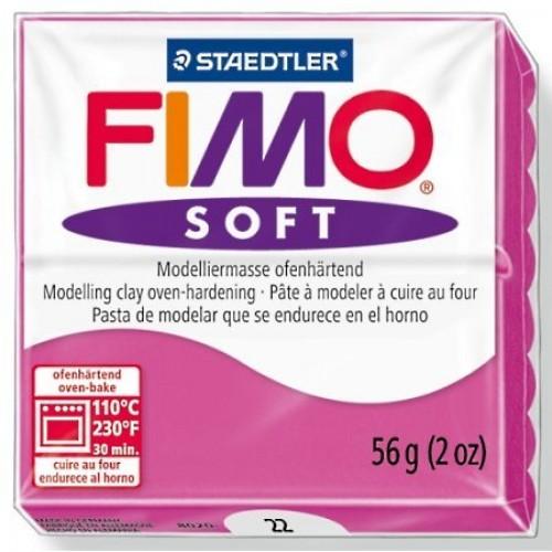 Полимерная глина Фимо FIMO Софт малиновый