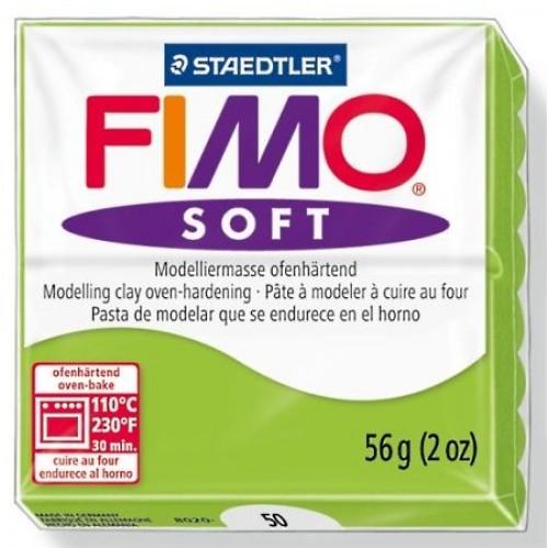 Полимерная глина Фимо FIMO Софт зеленое яблоко-50