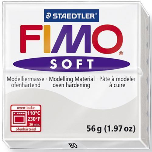 Полимерная глина Фимо FIMO Софт серый-80