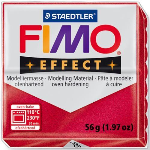 Полимерная глина FIMO effect,57гр,красный металлик-28