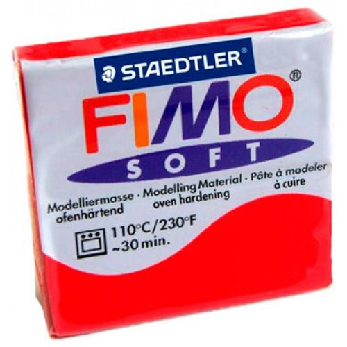 Полимерная глина Фимо FIMO Софт индийский красный-24