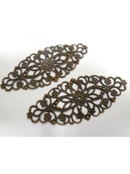 Декоративный элемент,филигрань,цв- бронза.цена за 1 шт