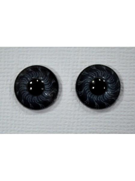 Глаза круглые ,клеевые ,серые, 6мм, цена за пару