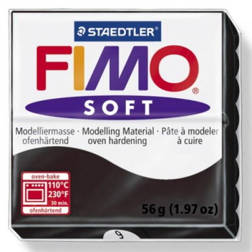 Полимерная глина Фимо FIMO Софт чёрный-9