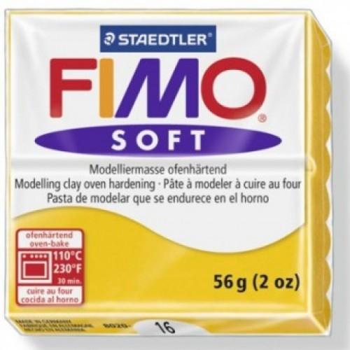 Полимерная глина Фимо FIMO Софт  желтый-16