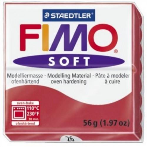 Полимерная глина Фимо FIMO Софт вишневый красный-26