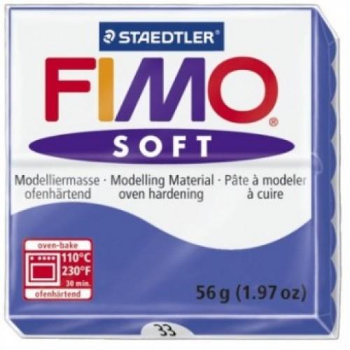Полимерная глина Фимо FIMO Софт бриллиантовый синий-33