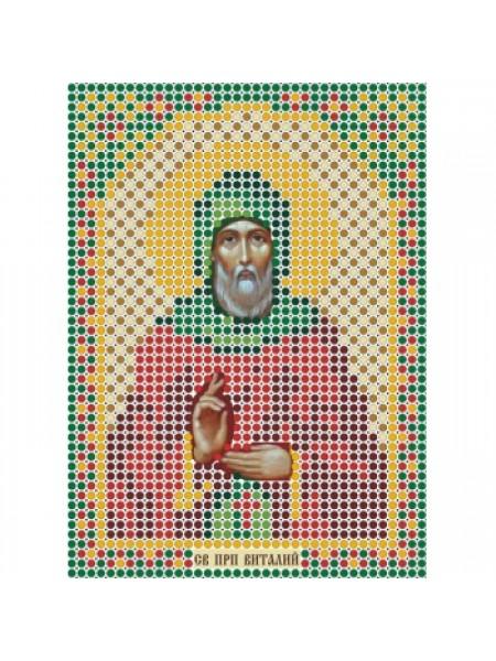 """Набор для вышивки бисером-Икона- """"Св. Преподобный Виталий""""- ММ-037"""