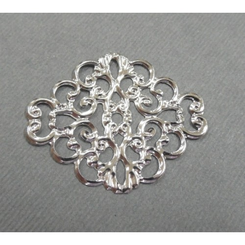 Декоративный элемент.Филигрань,цв- серебро.цена за 1 шт