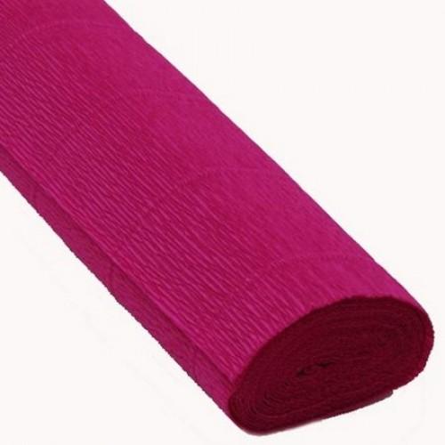 Бумага гофрированная-CARTOTECNICA ROSSI, цв малиновый №552