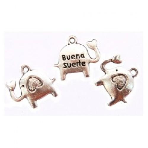 Подвеска слоник с сердцем,серебро,цена за 1 шт