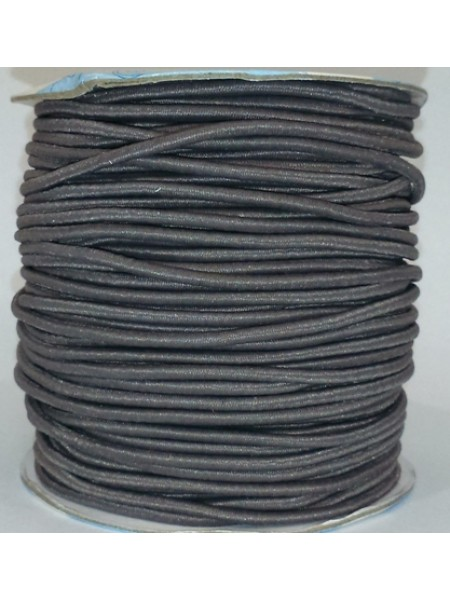 Резинка шляпная, 2мм,-серая,цена за 1 метр
