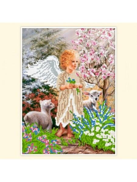 """Набор для вышивки бисером """"Цветущий сад АП-032"""
