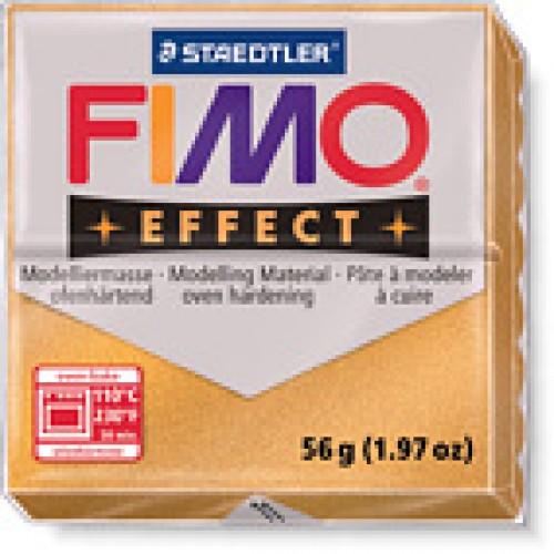 Полимерная глина FIMO effect,57гр,золотой металлик-11