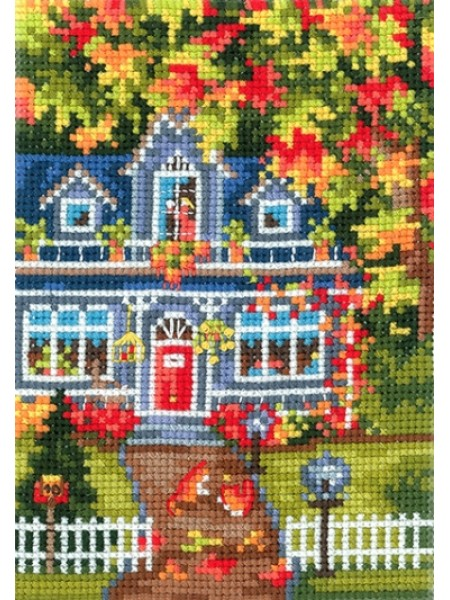 Набор для вышивания крестом -Времена года-Осень