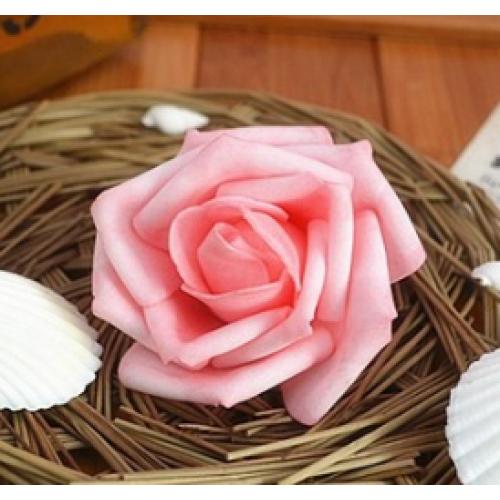 Роза из фоамирана,6-7 см,цвет розовый